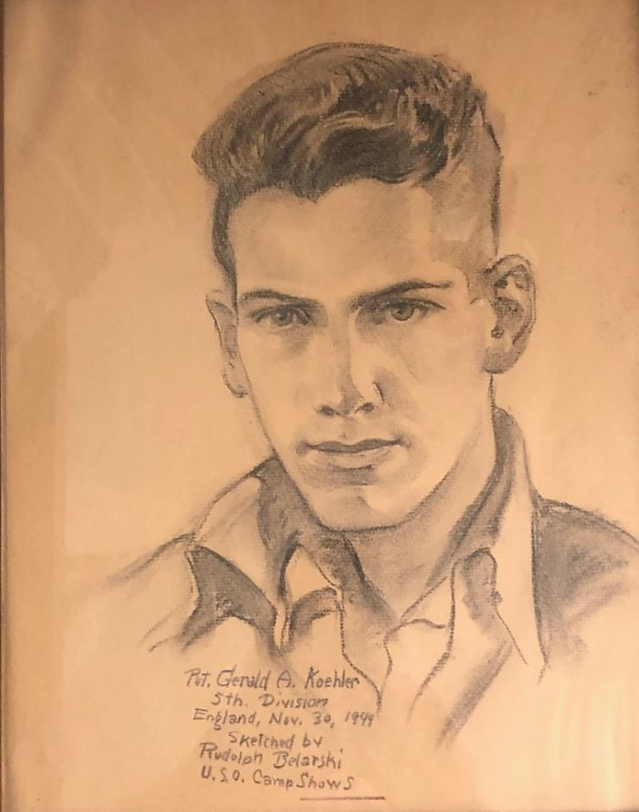 Belarski's Portraits Of Servicemen Were Done In Hospitals Of Men Who Were Wounded. There Is One On Ebay Currently For $350. You Can See The Faint Outline Of A Pillow In That Drawing!