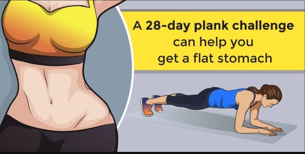 A 28-Day Plank Challenge Can Help You Get a Flat Stomach