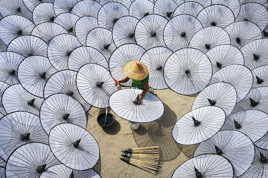 Among The White Umbrellas