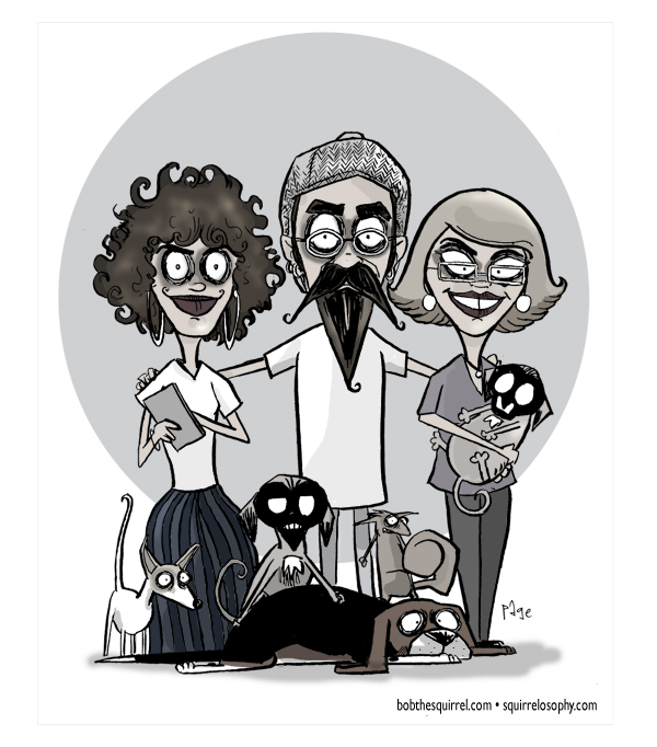 Cartoonist Draws Family In Several Different Cartoon Styles