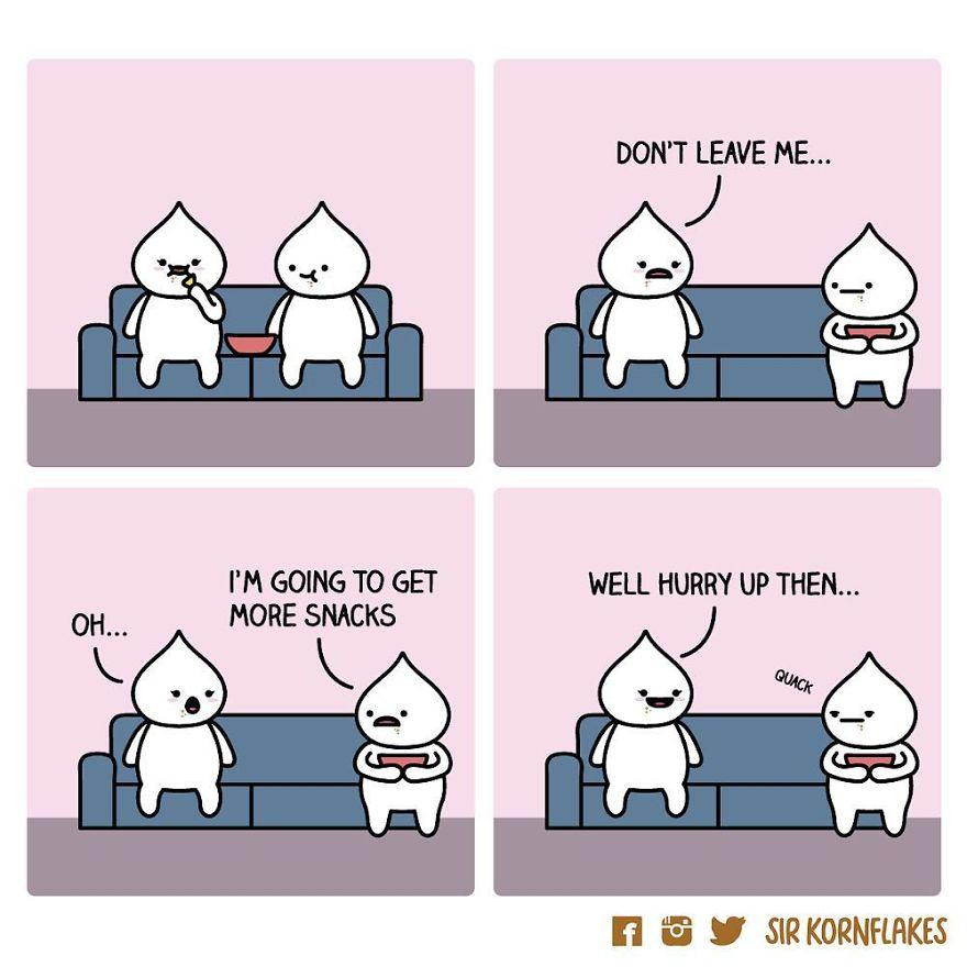 I Bring Couples Closer Together Through Dumpling Comics