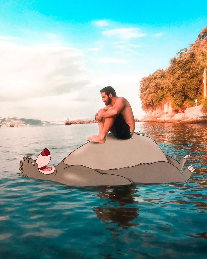 Italian Illustrator Blends Art And Reality And The Result Is A Lot Of Fun