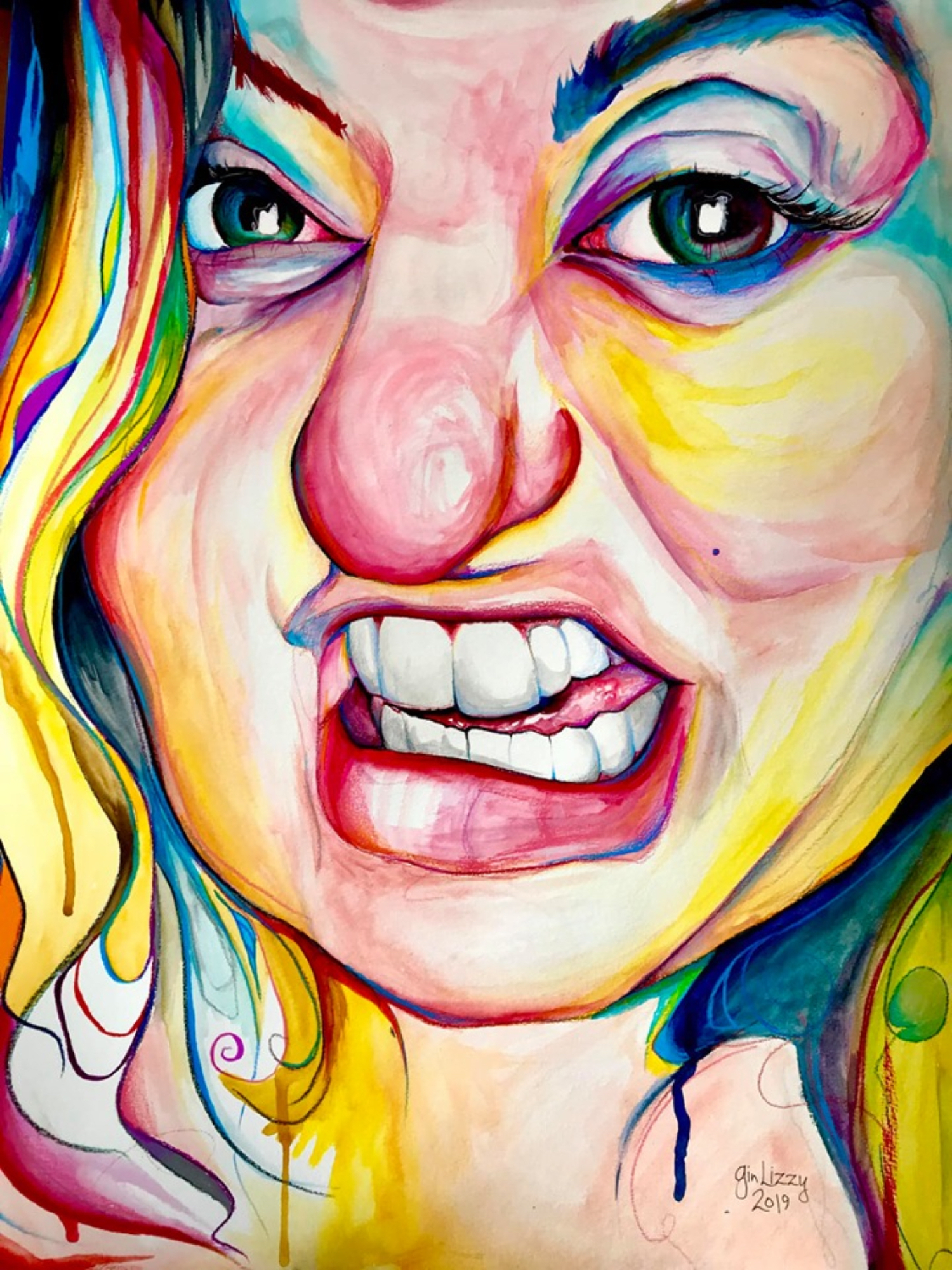 I Paint My Way Through Schizophrenia By Putting Every Emotion In Color.