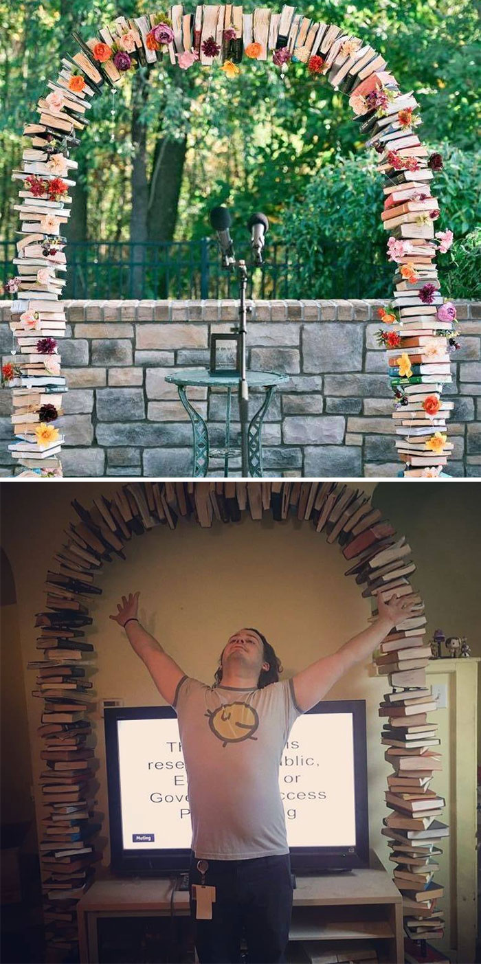 Stumbled Upon This Used Book Arch A Local Couple Kept In Their Barn Outside Pittsburgh A Few Months Ago And Begged My Boyfriend To Let Me Buy It For Our Wedding