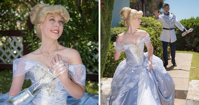 To Encourage A Little Girl Who Was Born Without An Arm, This Woman Shares Stunning Photos Of Herself As Cinderella With A Glass Arm