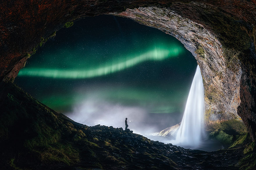 Aurorae: 'Aurora Outside The Tiny Cave' By Sutie Yang