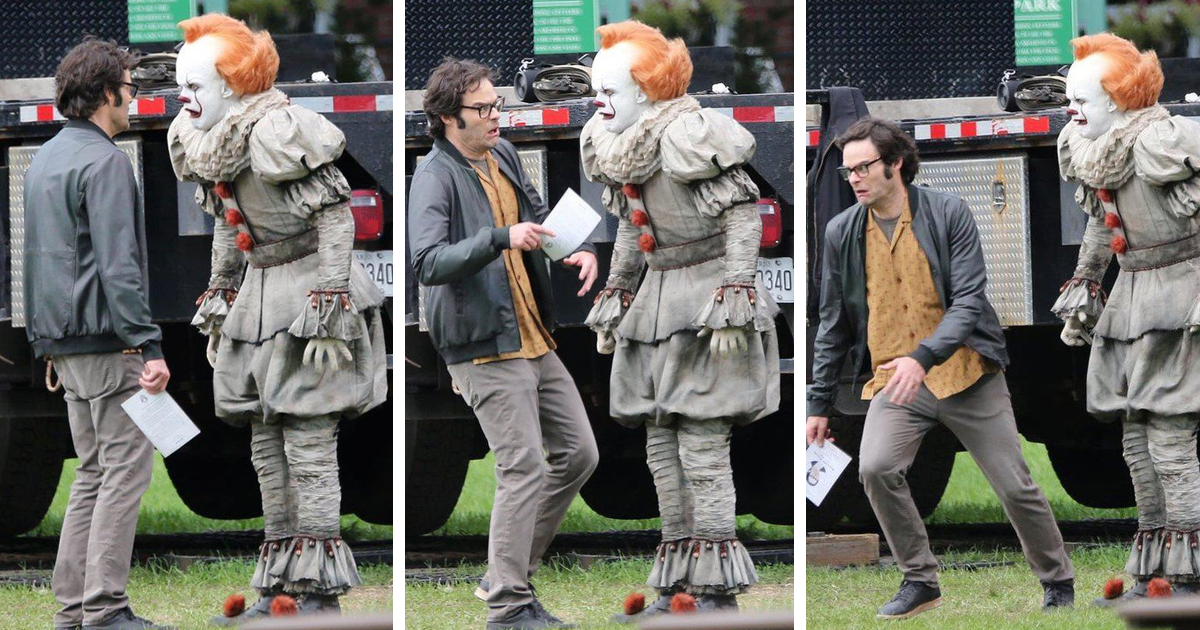 Bill Hader Thinks That Pennywise's Crossed Eyes Is CGI, Gets Seriously Spooked After Seeing Them In Real Life