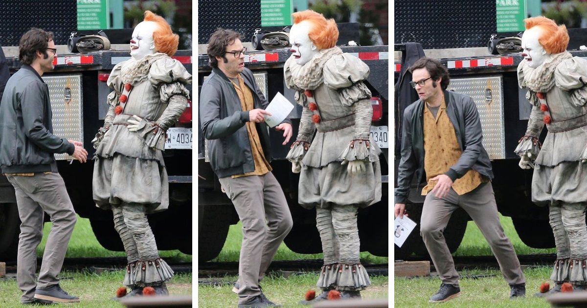 Turns Out Pennywise S Crossed Eyes Are Not Cgi And It Seriously Spooked Bill Hader On Set Bored Panda I told bill, 'i want it in both directions, i want you to send your eyes looking away and give a really unsettling look'. cgi and it seriously spooked bill hader
