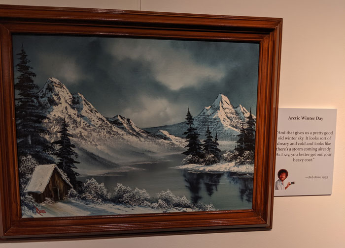 People Are Flooding The Bob Ross Art Exhibition In Virginia And The Captions Are Beyond Wholesome