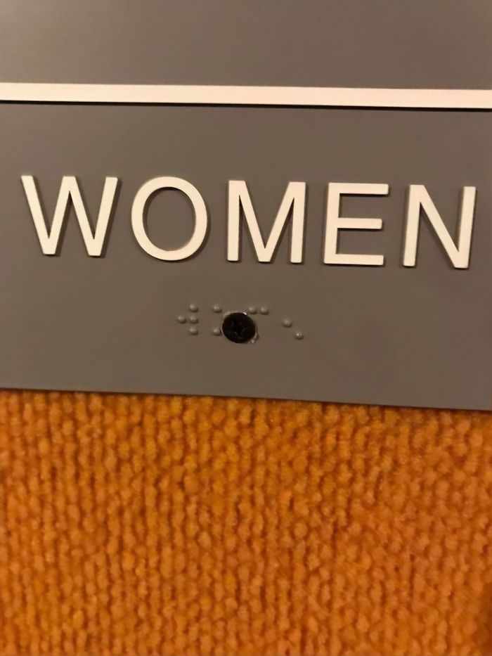 Half The Braille Sign Is Missing