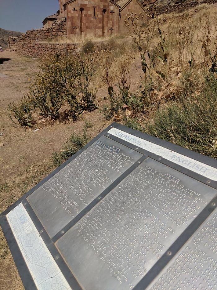 Metal Braille Information Board In 35°c Heat (95°f)