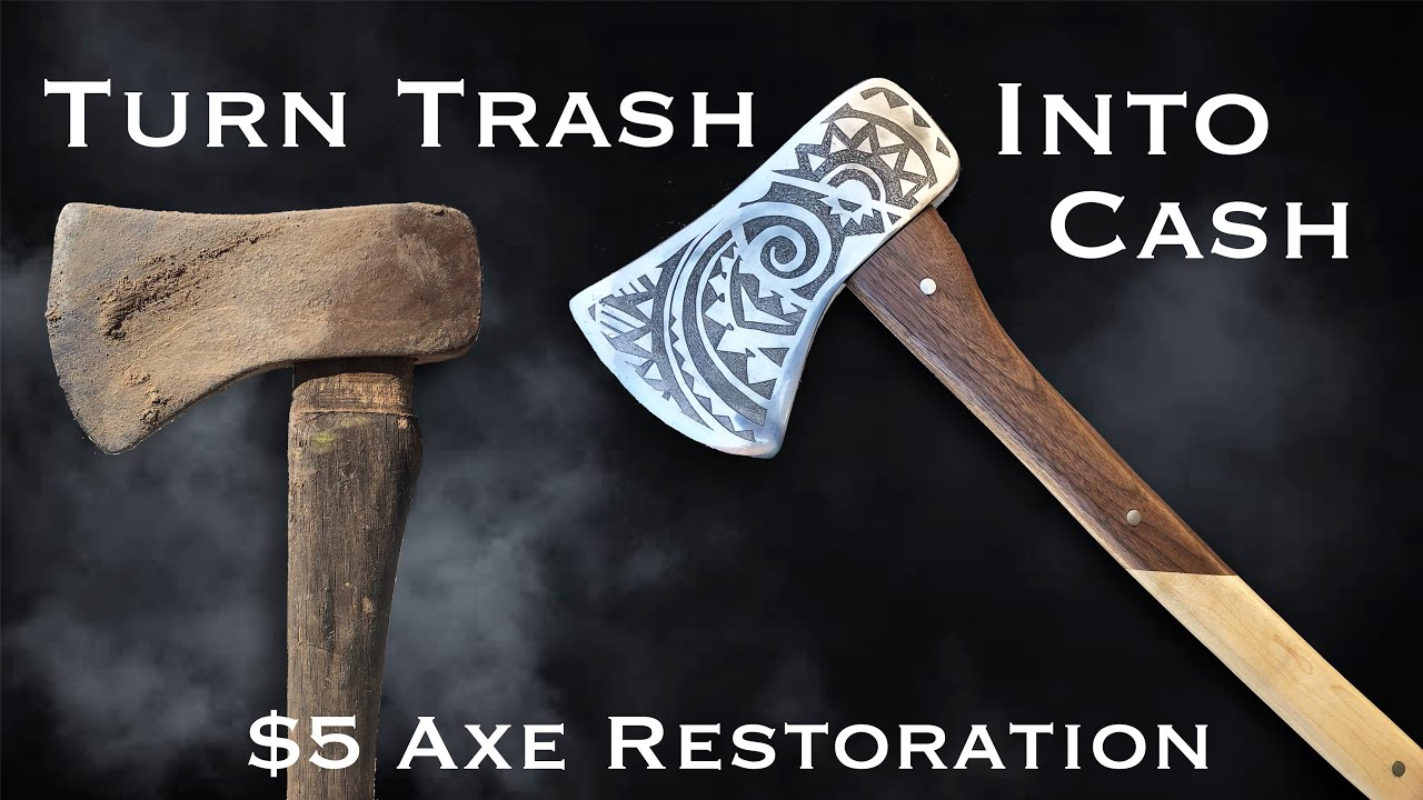 Turning Trash To Cash! $5 Axe Restoration