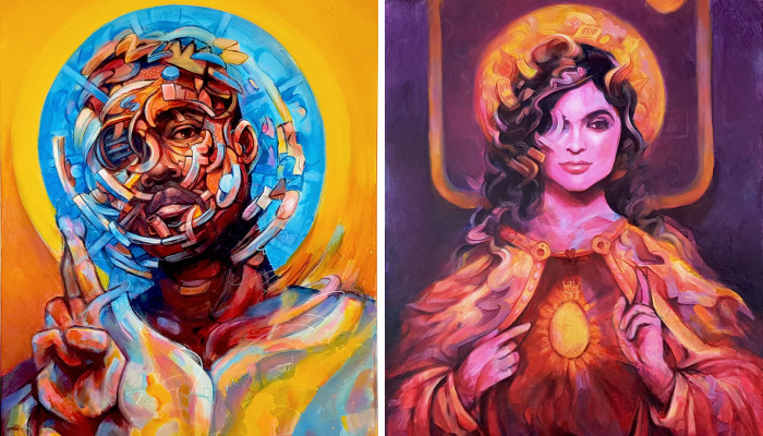 I Turned Pop Artists Into Religious Icons, Do You Recognize Them?