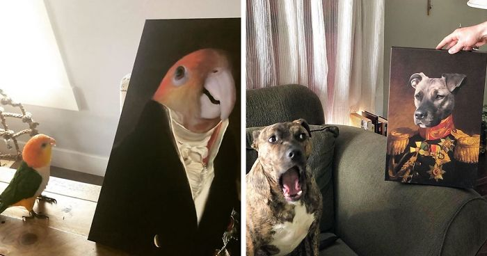This Company Can Turn A Pet Into A Royal Portrait And Here Are 59 Of The Best Ones