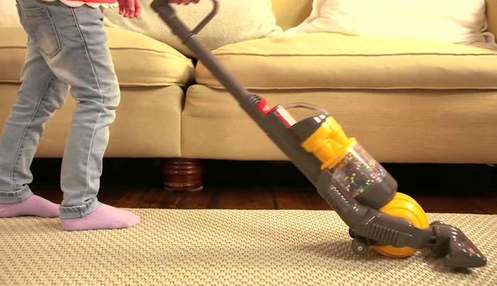 Parents Love This $27 Dyson Vacuum For Kids That Actually Cleans The Floor