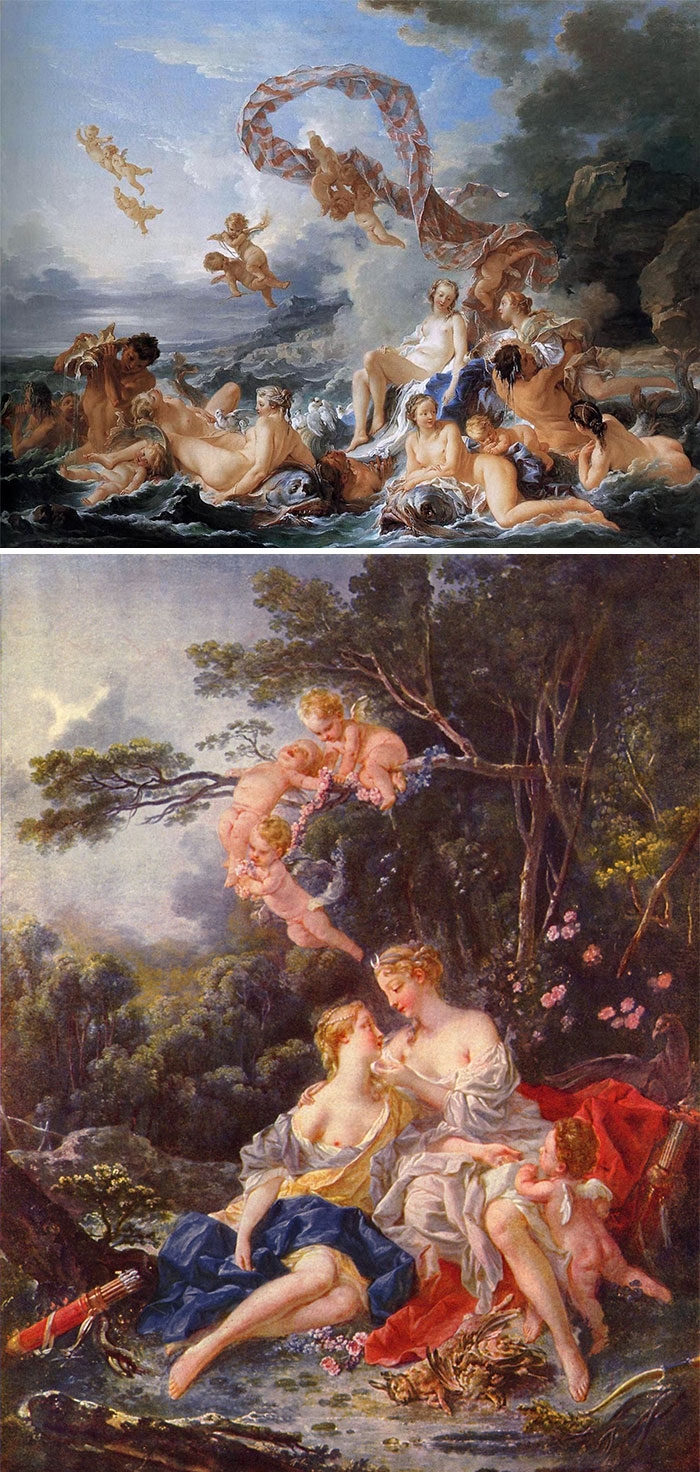 If The Painting Could Easily Have A Few Chubby Cupids Or Sheep Added (Or Already Has Them), It's Boucher