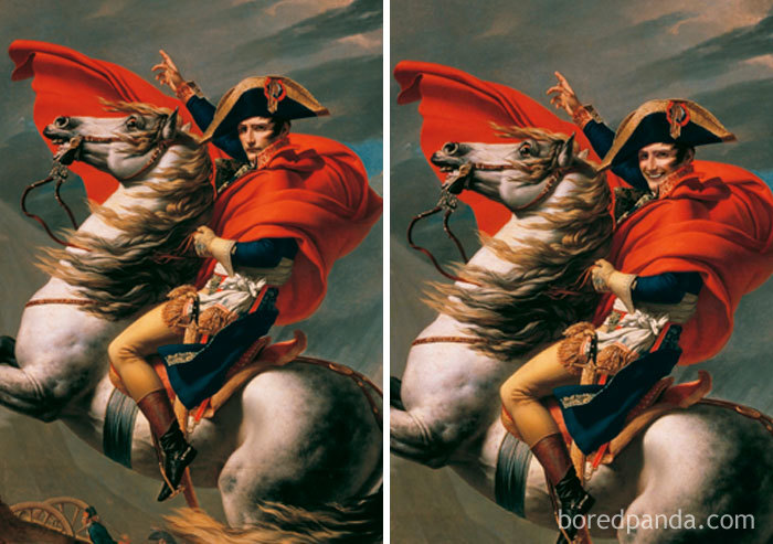 Napoleon Crossing The Alps By Jacques-Louis David