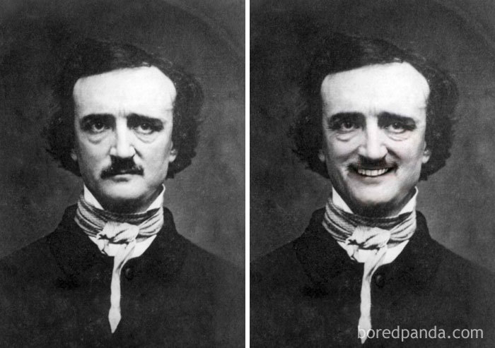 Portrait Of Edgar Allan Poe By W.s. Hartshorn