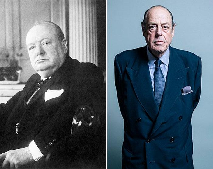 Winston Churchill & Nicholas Soames