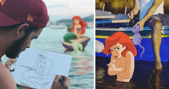Guy Photoshops Himself Having Fun Adventures With Disney Characters And The Result Is Adorably Funny (30 Pics)
