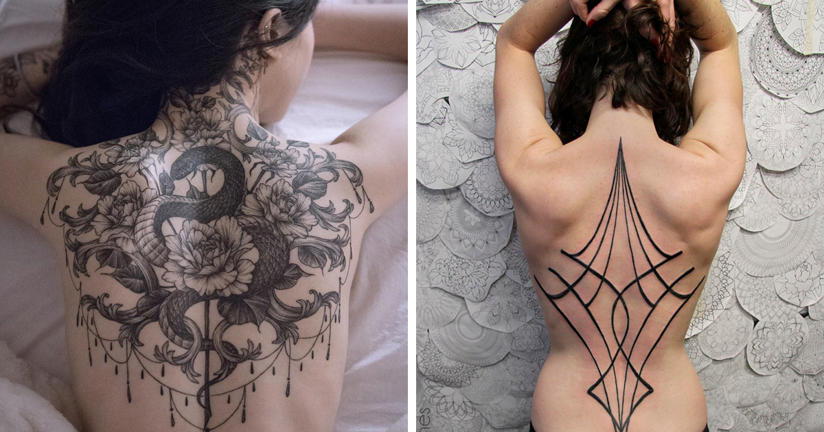 30 Impressive Back Tattoos That Are Masterpieces