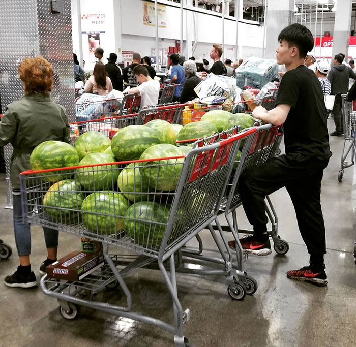 A Guy Buys 38 Watermelons, He Can Take 2 In Both Hands, How Many Times Will It Take For Him To Bring All Of Them Home?