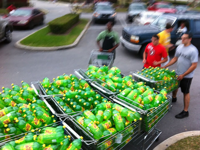 Soda For 6 Cents. The Obvious Course Of Action. I Think, They Got 600 Bottles. They Are Definitely People From Math Book