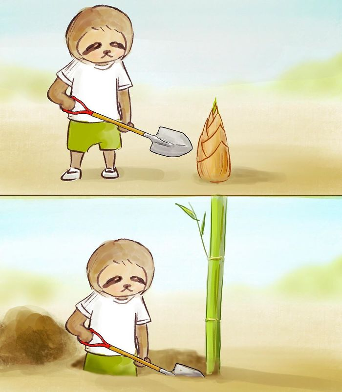 Funny-Sloth-Illustrations-Keigo