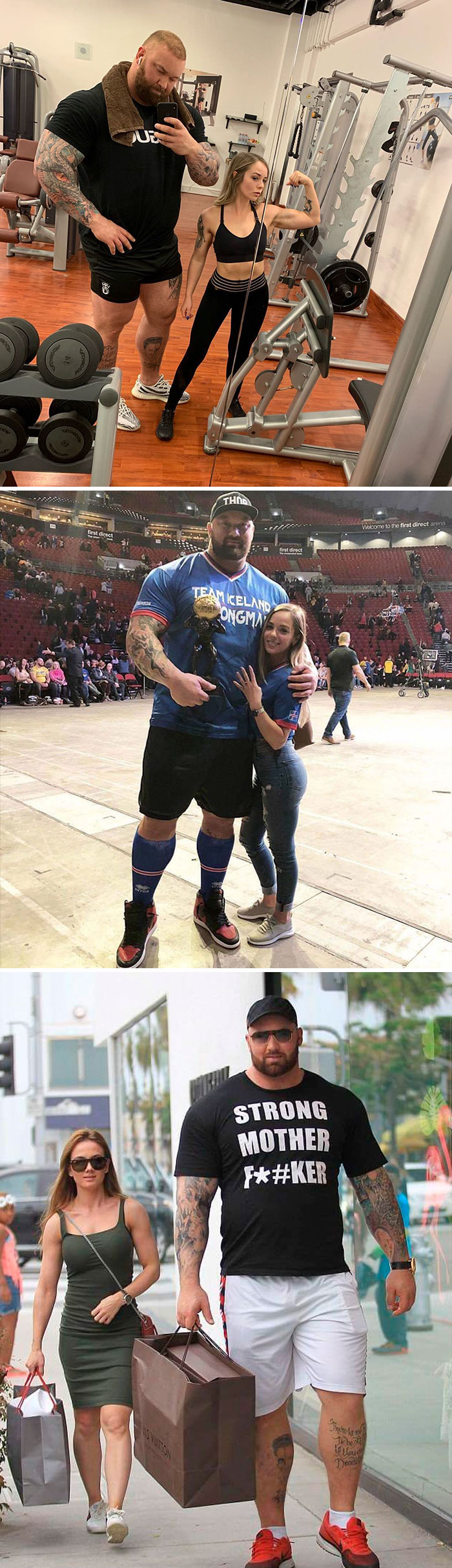 The Mountain From GOT With His Wife
