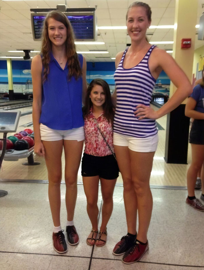 The Difference Between UCF's Two Tallest Volleyball Players And Shortest Cheerleader