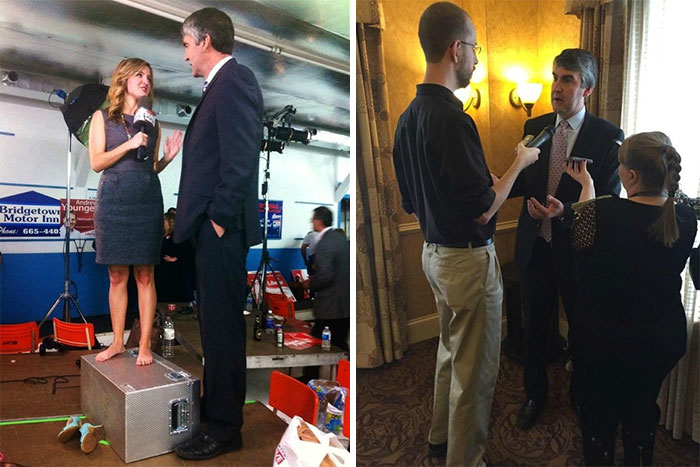 """At 6'5"""", NS Premier Stephen McNeil Looked Pretty Tall On Election Night. At 6'9"""", I May Have Shattered That Illusion Today"""