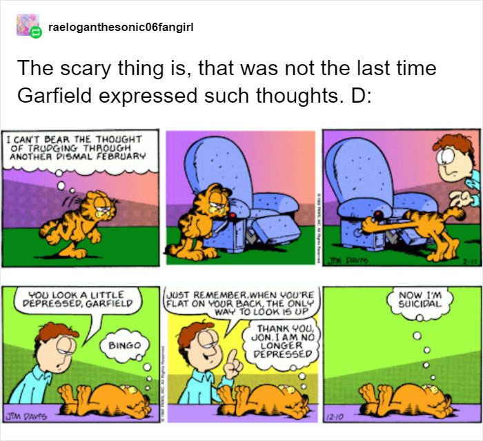 Someone Shows That Garfield Has A Dark Side By Pointing Out That Jon Possibly Killed Odie S Former Owner Bored Panda