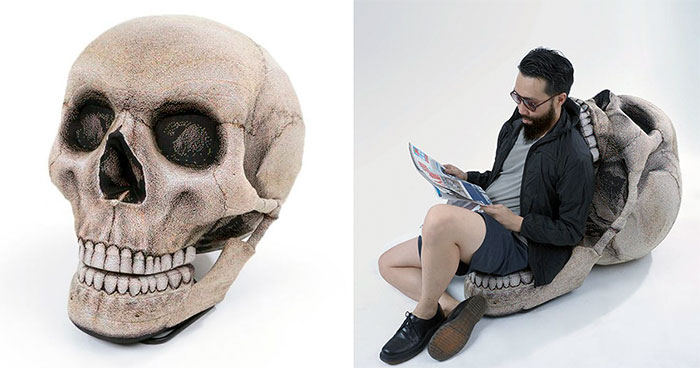This Giant Skull Chair Is Both Comfy And Spooky At The Same Time