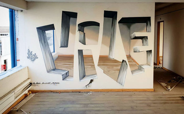 This Graffiti Artist Makes Walls Appear Transparent Using Nothing But Spray Paint
