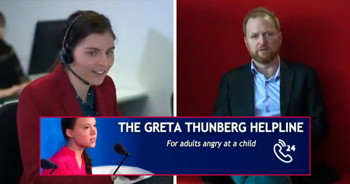 Satirical Hotline For People Angry At Children Exists And Greta Thunberg Herself Approves