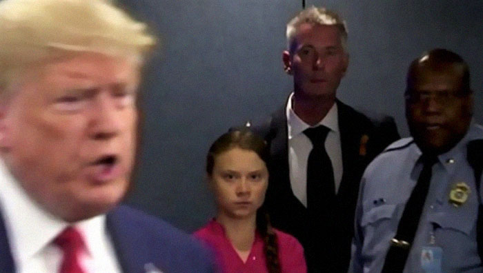 Greta Thunberg's Speech At The UN Climate Summit Is Going Viral Along With Her Death Stare Directed At Trump