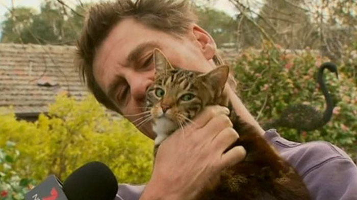Sally, A Tabby Who Saved Her 49-Year-Old Owner From A Burning House