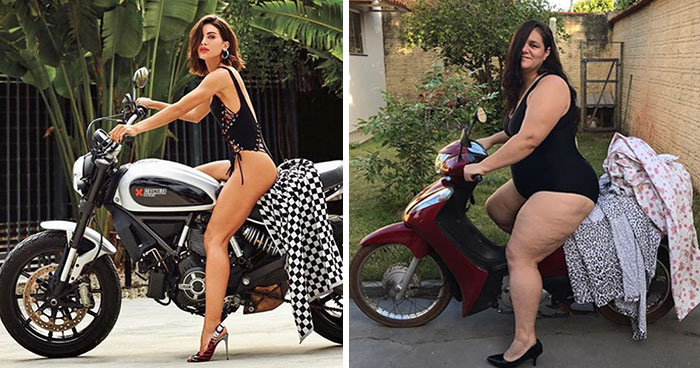 Brazilian Lady Recreates Posh Photoshoots To Point Out How Silly Some Of Them Are