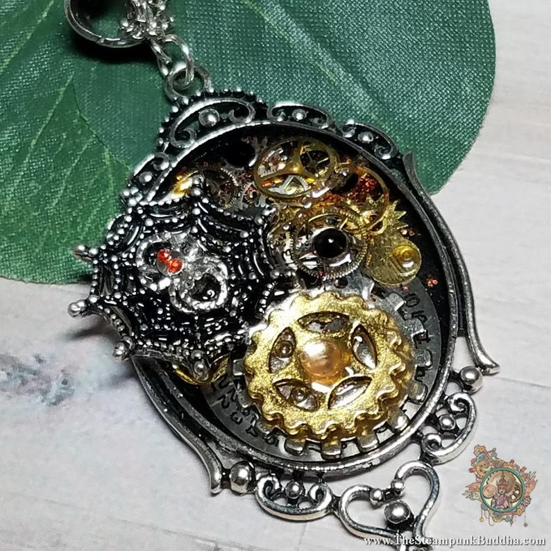 Artist In The Ozarks Turns Old Watch Parts Into Halloween Jewelry