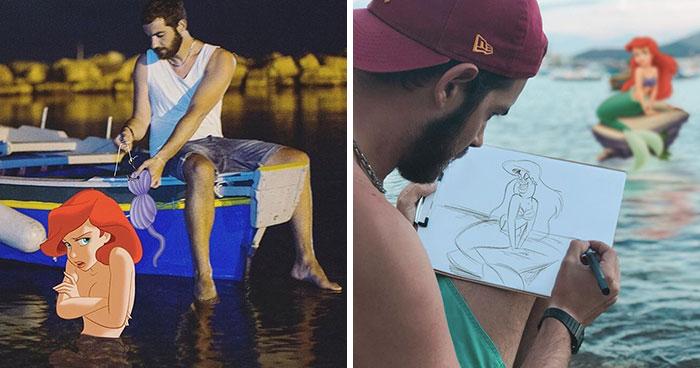 Este hombre se photoshopea pasándolo bien de aventuras con personajes Disney, y el resultado es tan adorable como divertido (30 fotos)