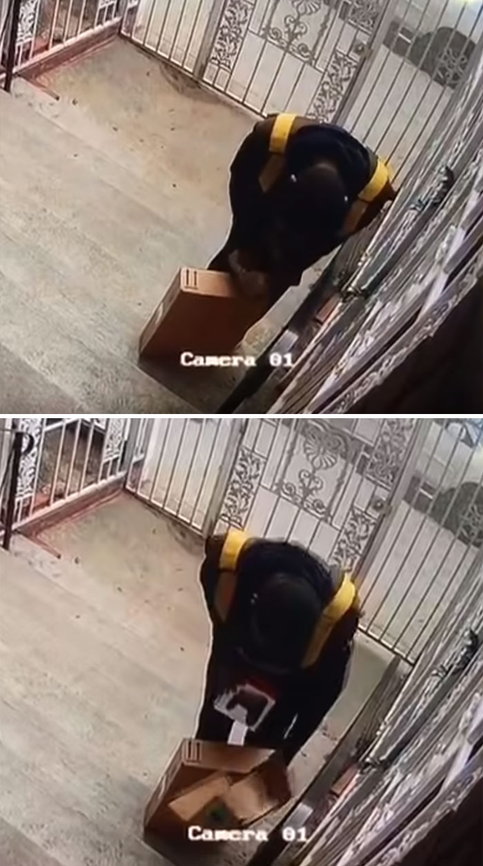 UPS Driver Helper Opens Christmas Package And Steals Contents On Delivery