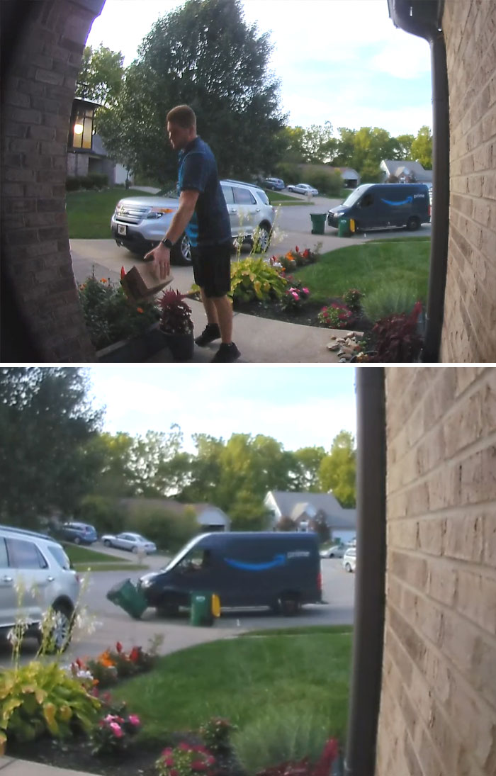 Amazon Delivery Gives Zero $&:!? About Package Or His Van