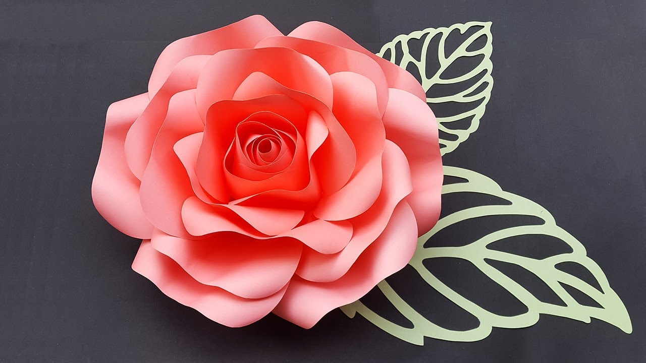 DIY Paper Rose Tutorial With Template | Large Size Paper Roses