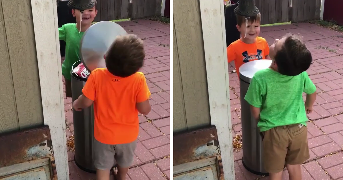 These Boys Jokingly Hitting Each Other With A Trash Can Lid Prove Why Women Live Longer Than Men