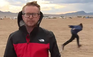 Man Spotted Naruto Running Near Area 51 During Live News Coverage