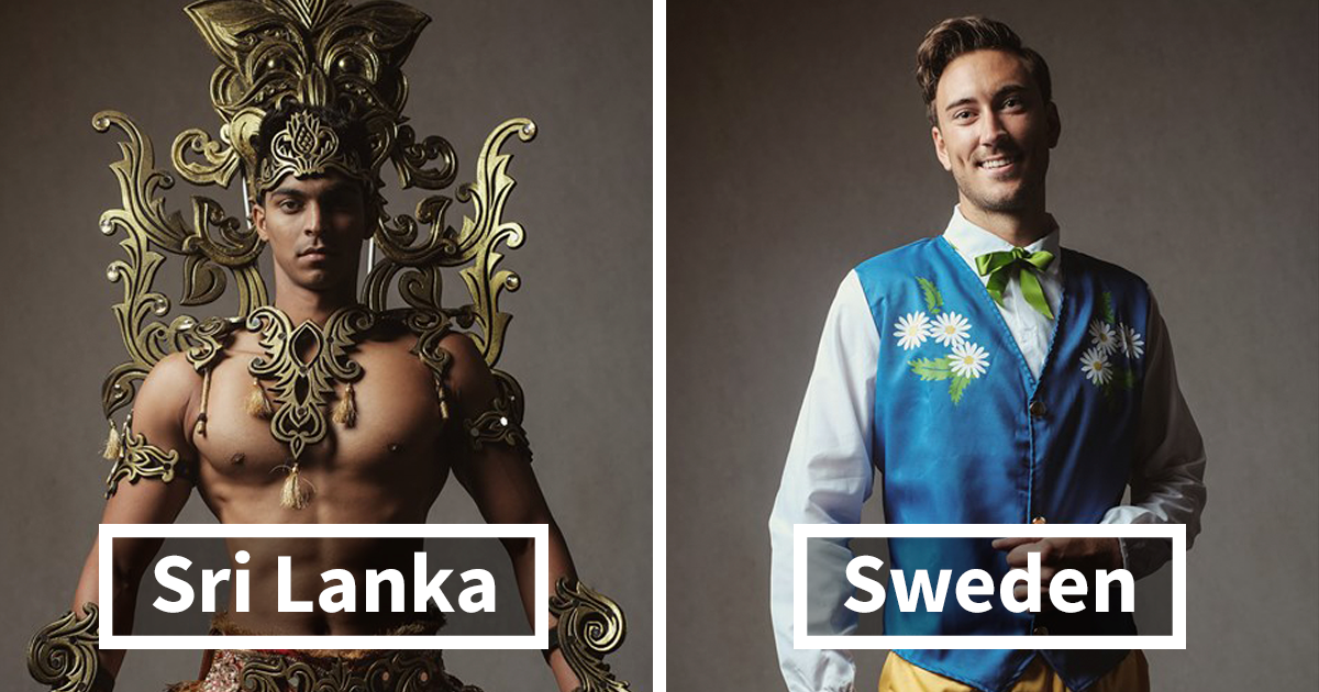 Mister Global Contestants Dress In Their National Costumes And Look Like Video Game Bosses