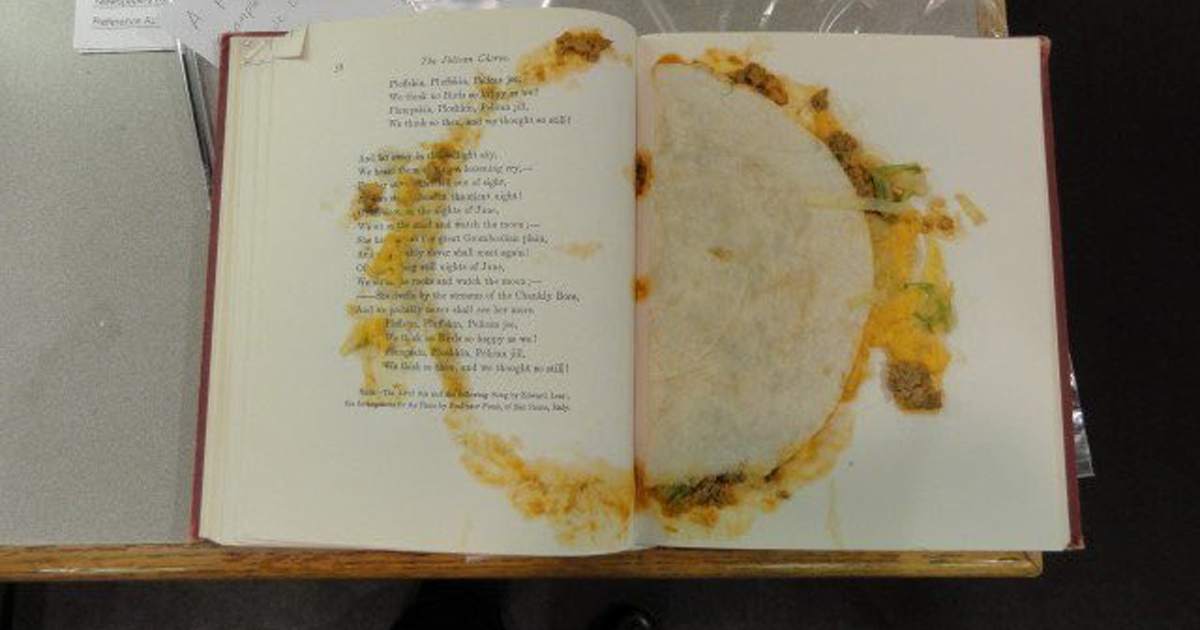 Mystery Taco Baffles The Internet After It Was Discovered In A Library Book