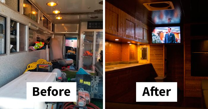 This Man Converted An Old Ambulance Car Into His Dream Home In Just 4 Months