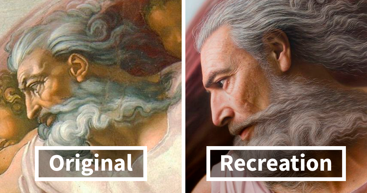 Artist Makes Hyperrealistic Portraits With Acrylic Paint Giving Life To Busts, Antique Paintings, And Photos (
