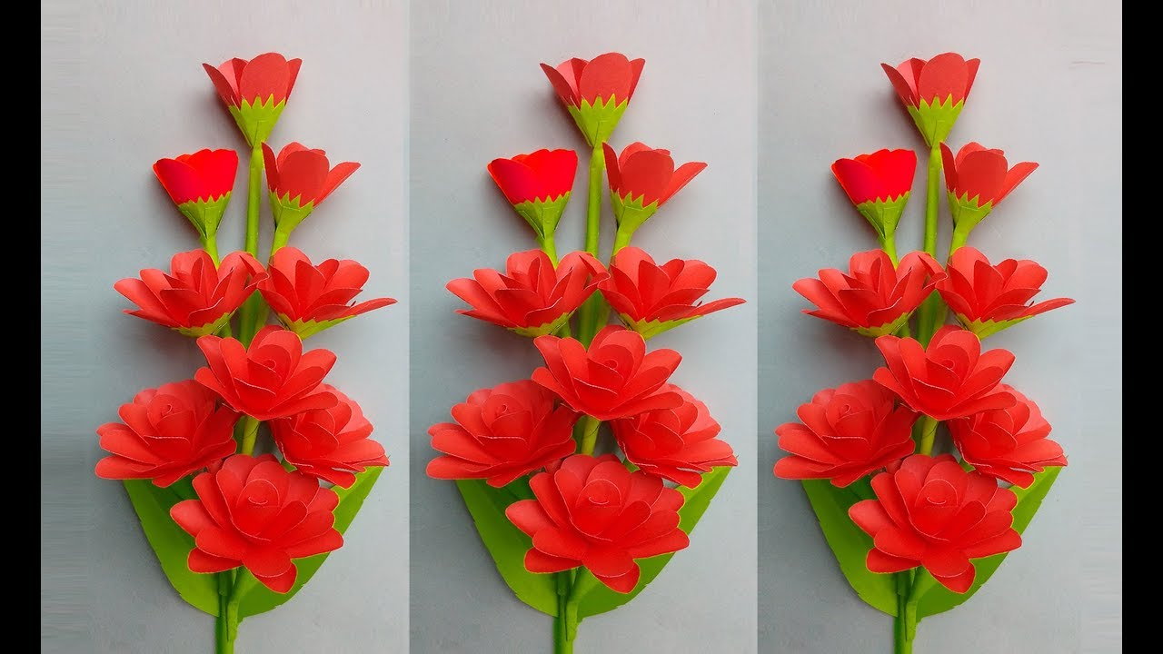 Flower Making: How To Make Flowers With Paper For Home Decor